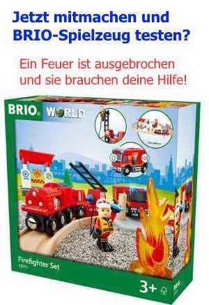 Hier könnt ihr mit euren Kindern die BRIO-Eisenbahn testen