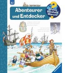 """Auch 7 und 8jährige fühlen sich in dem Buch """"Abenteurer und Entdecker"""" und mit den Informationen wohl."""