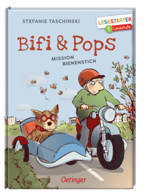 Auf seinem Motorrad und mit Bifi im Beiwagen fährt Hobby-Imker Pops in den Wald, um nach seinen Bienenkästen zu sehen.