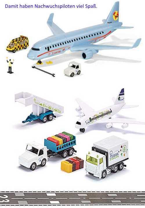 Mit dem neuen SIKUWORLD Verkehrsflugzeug und dem SIKU Flughafen-Set haben Nachwuchspiloten viel Spaß.