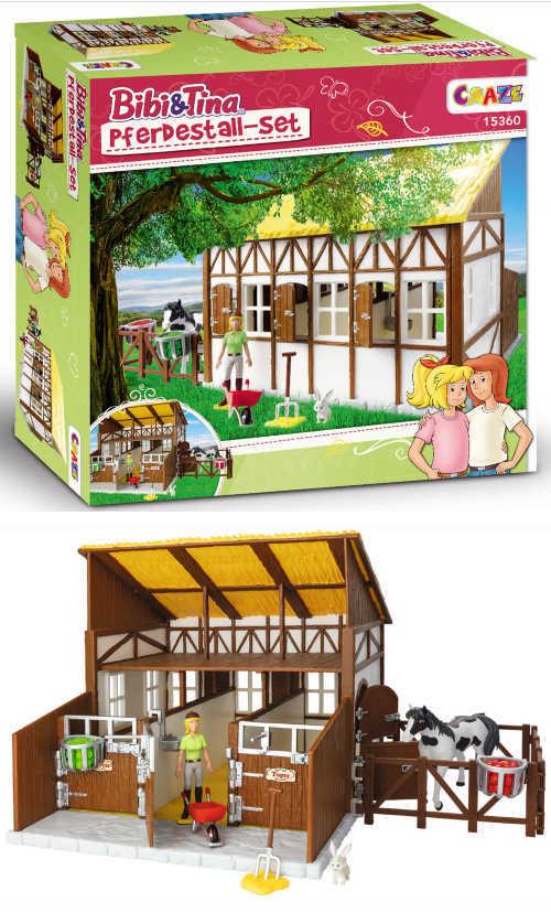 5 Pferdestall-Sets zu gewinnen: Bibi & Tina und ihren getreuen vierbeinigen Gefährten Amadeus und Sabrina...