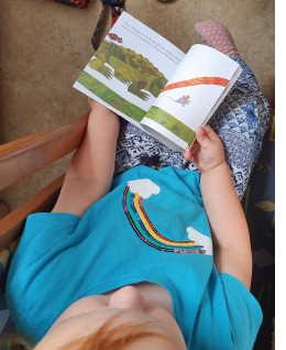 Meine Kinder hat das Buch sehr amüsiert, sie imitierten die trotzig frechen Tiere, die ihren Unmut über die kleine Maus zum Ausdruck bringen und knurrten wie der Löwe.