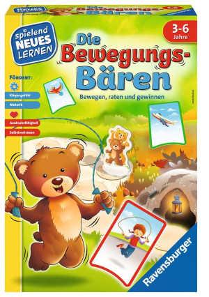 Hier kommt Bewegung ins Spiel! Die Bären-Bande tobt durch den Wald. Fliegen wie ein Flugzeug, balancieren wie eine Seiltänzerin und hüpfen wie ein Hase: Gemeinsam stellen die Bären-Kinder verschiedene Begriffe durch Bewegung dar.