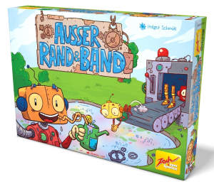 Ausser Rand und Band ist ein superleichtes Familienspiel mit hohem Aufforderungscharakter, einzigartiger Ausstattung und Spielspaß am laufenden Band.