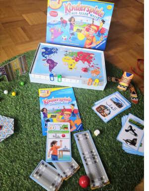 """Kinderspiele aus aller Welt"""": Das Spiel ist eigentlich nicht ein Spiel, sondern besteht aus 24 Einzelspielen, in denen werden Geographie-Wissen, Konzentration und Feinmotorik gefördert"""