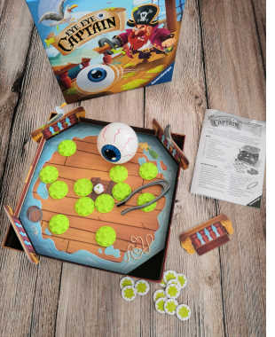 Eye, Eye Captain, ein rasantes Aktionsspiel von Ravensburger. Ein Spiel nicht nur für Piratenfans, auch Landratten kommen auf ihre Kosten.