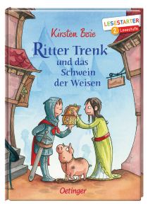Leselern-Abenteuer mit Kirsten Boies Ritter Trenk. Trenk ist glücklich, denn gerade hat der Herr Fürst verkündet, dass er demjenigen, der den Stein der Weisen findet, jeden Wunsch erfüllt.