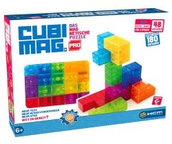Die Spielidee ist gelungen und Kinder können gezielt ihre 3-dimensionale Vorstellungskraft trainieren Meine Kinder finden die Magnetsteine toll und bauen mit ihnen gerne wild umher.Bei CUBIMAG PRO handelt es sich um ein magnetisches Knobelspiel, in der man die richtige Bauweise der Steine herausfinden muss. In den Aufgaben ist beschrieben, welche Steine verwendet werden müssen. Die Aufgaben nehmen an Schwierigkeit zu. Insgesamt sind es 180 Aufgaben, die man alleine bewältigen kann und 48 Aufgaben, die von 2 Spielern gegeneinander bewältigt werde