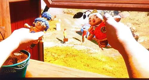 It takes two: Die Puppen nehmen die Existenz der Eltern an und das Abenteuer beginnt
