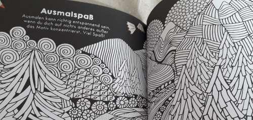 Das Schwarz-Weiß-Mandala fanden sowohl Mina (9) als auch Sophie(13) toll