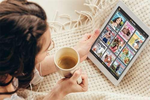 Digitales Lesen - einfachen und erschwinglichen Zugangs zu Magazinen und Zeitungen