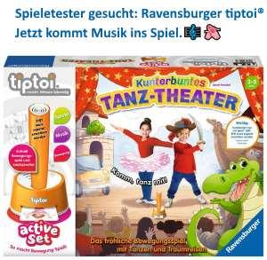 Spieletester gesucht: Ravensburger tiptoi® Kunterbuntes Tanz-Theater - jetzt kommt Musik ins Spiel.