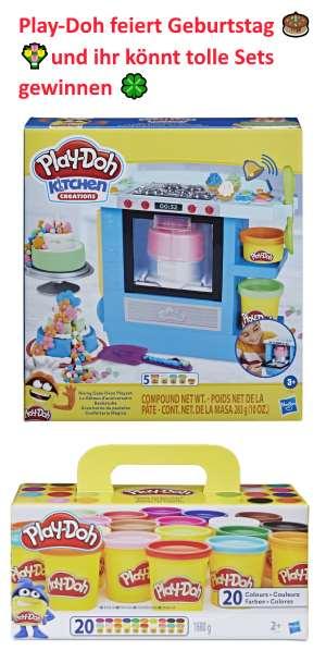 Play-Doh feiert Geburtstag! Feiert mit! Hasbro und ClevereFrauen.de verlosen unter euch 5 Play-Doh Pakete,